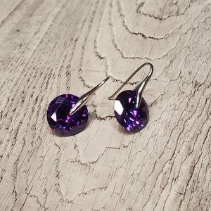 Stainless steel earrings purple